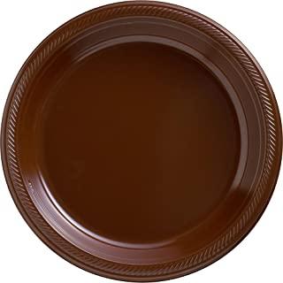 Big Party Pack Chocolate Brown Plastic Plates | 10.25