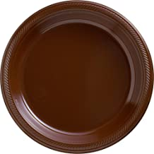 Party Chocolate Plastic Plates Supply