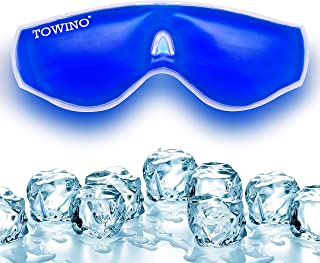 TOWINO® Cooling Gel Relaxing Eye Mask for Dark Circles, Dry Eyes, Cooling Eyes, Pain Relief, Redness, Eye Patches, Sleepin...
