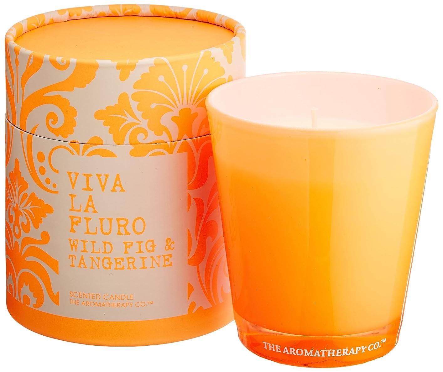 会話型栄光下にVIVA LA FLURO センティッドキャンドル ワイルドフィグ&タンジェリン Wild Fig&Tangerine ビバ?ラ?フルーロ