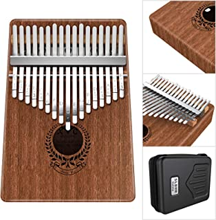 Kalimba 17 Keys Thumb Piano Built-in Professional Kalimba Bag,Study Instruction and Tune Hammer, Unique Gift for Kids Adul...