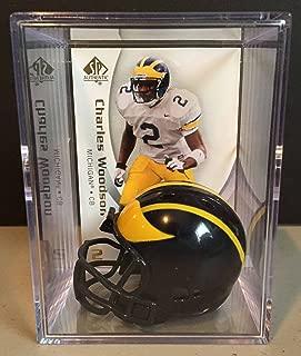 Michigan Wolverines NCAA Helmet Shadowbox w/ Charles Woodson card
