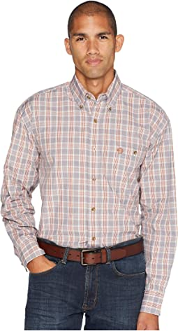 George Strait Long Sleeve Button Plaid