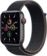 New Apple Watch SE (GPS + Cellular, 44mm) - Space Gray Aluminum Case with Charcoal Sport Loop