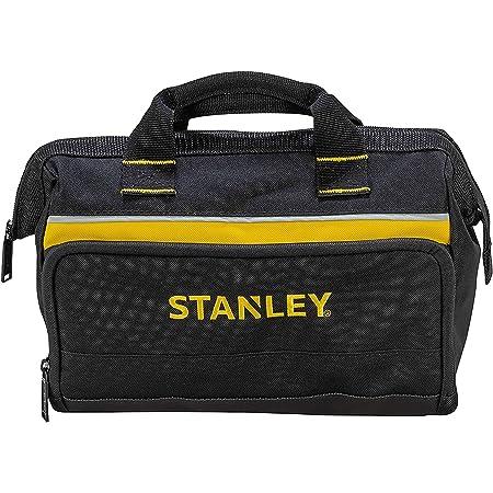 Stanley 1-93-330 Sac À Outils En Toile 600 Deniers - 8 Compartiments Intérieurs - Embase Renforcée - Poignée Matelassée En Coton - Dimensions : 300X130X250Mm