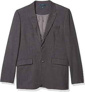 Perry Ellis Men's Slim Fit Stretch Sharkskin Suit Jacket, Charcoal, Medium/40 Regular