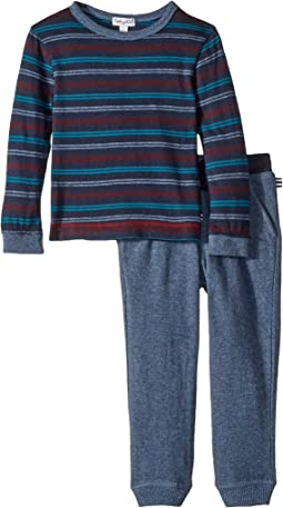 Yarn-Dyed Stripe Long Sleeve Set (Little Kids/Big Kids)