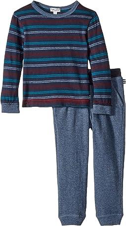 Yarn-Dyed Stripe Long Sleeve Set (Little Kids/Big Kids)
