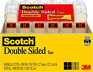 Scotch Brand Double Sided Tape, No Liner, Strong, Engineered for Office and Home Use, 1/2..