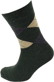 Viyella Made in England Mens Lovat Green Argyle Wool Socks
