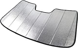 Tuningpros SS-008 Custom Fit Car Windshield Sun Shade Protector, Sunshade Visor Silver & Grey 1-pc Set Compatible With 2016-2014 Audi A3