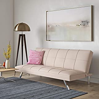 DHP 2028729 Zoe Convertible Futon, Light Pink