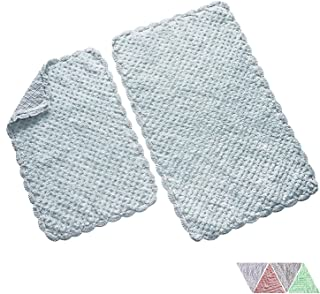 The Home Talk Ultra Soft Spa Cotton Crochet Bath Rugs or Mat Place in Front of Shower, Vanity, Bath Tub, Sink, and Toilet (16