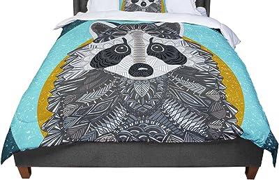 KESS InHouse Heidi Jennings Forest Green Abstract Queen Comforter 88 X 88