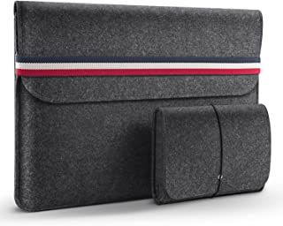 HOMIEE 15-15.4 Inch Laptop Sleeve MacBook Sleeve Carrying Case for 15 Inch MacBook Pro A1990 A1707 A1398 A1417 and Dell XPS 15, Dark Gray