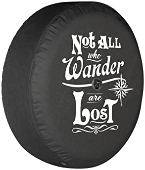 """Boomerang - Not All Who Wander are Lost - 32"""" Soft JL Tire Cover for Jeep Wrangler JL (with Back-up Camera) - Sport &..."""