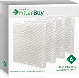 FilterBuy Replacement Filters Compatible with Honeywell HAC-801, Duracraft AC-801, Sears Kenmore 01478 Humidifiers. Pack of 6 Filters.