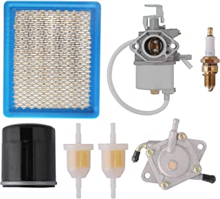 Club Car Tune Up Kit for Golf Cart DS Gas 1992-2004 with 1016478 Carburetor, 1016467 Oil Filter, 1025582 Air Filter, Fuel Pump, Fuel Filter, Spark Plug Replacement Club Car DS Kawasaki OHV FE290