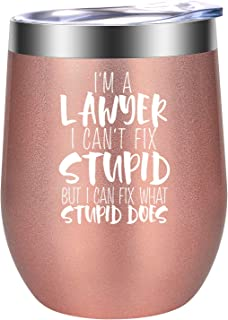 I'm A Lawyer Gifts - Law Gifts for Women - Attorney Gifts - Birthday, Christmas, Law School Gifts for Lawyers Friends, Coworkers, Litigator, Paralegal, Law Student, Counsel - LEADO Legal Wine Tumbler