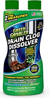 DISSOLVE Liquid Hair & Grease Clog Remover | Drain Opener | Drain cleaner | Toilet..