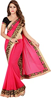 Kuki Multicolor Embroiderd Georgette Saree With Blouse