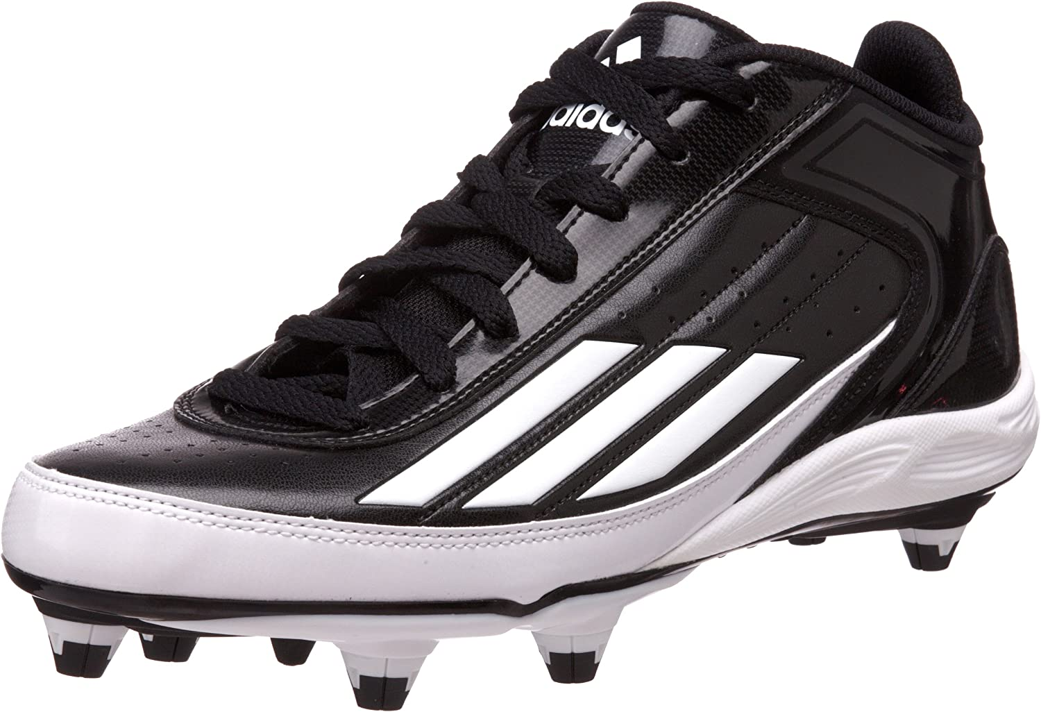 new style 35d14 cb2c3 Adidas Lightning Mid D D D Football Cleat,Black White ...