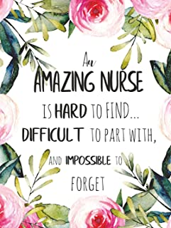 An amazing nurse is hard to find POSTER A3 Great Nurse Appreciation Gift Retirement Leaving Goodbye Wall Art Print