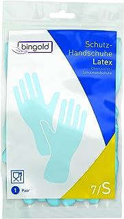bingold 512101látex guantes de protección, Azul