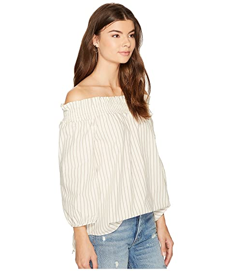 Top KS8K4353 kensie Shoulder Shirting Off Oxford Stripe qxnw6fCnZ