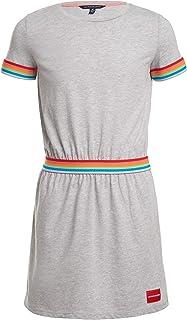 Calvin Klein girls Big Girls' Short Sleeve Solid Logo Dress Casual Dress