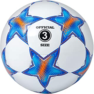 Soccer Ball Size 3 for Kids, Runleaps Ball Toys with Star Pattern Official Size Soccer Balls for Training, Playing, Boys, Girls, Toddlers Age 3 - 8 ( Blue )