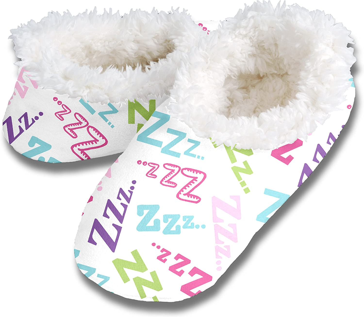 Snoozies Womens Fun Themed Print Slippers with Comfy Cozy Fleece