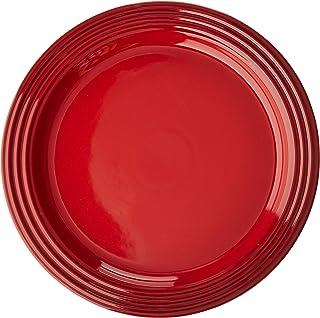 "Le Creuset Stoneware Set of 4 Dinner Plates, 10.5"" each, Cerise"