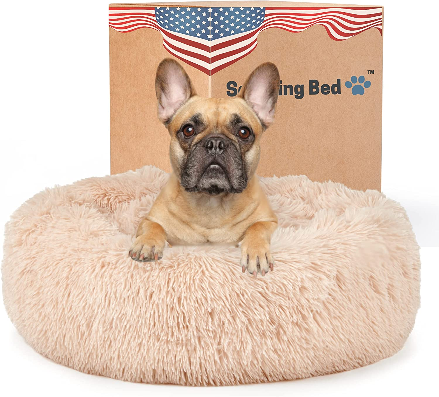 Calming Dog Bed for Large-scale Brand Cheap Sale Venue sale Medium Dogs Ort The Anxiety - Round Original