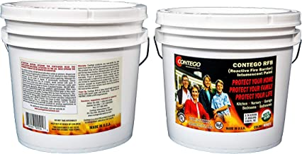 Contego International Inc. Reactive Fire Barrier Latex Intumescent Paint. Sold by The Gallon for Home Garages, Nurseries, Bedrooms & Kitchens. No VOCs. Restricts Fire Movement, Reduces Smoke.