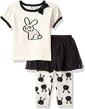 GERBER Baby Girls' Shirt and Tutu Capri Set