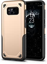 AI Lulu Samsung Galaxy S8 Plus Case Full Body Shockproof Protective Phone Case Cover Anti-Drop with Bumper Frame Compatible Samsung Galaxy S8 Plus(Gold)