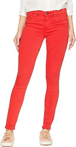 Nico Mid-Rise Skinny Jeans in Distressed Rocco Red