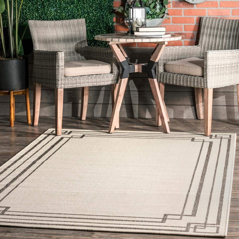 nuLOOM Frontier Modern Excellent Bordered Indoor Outdoor Wholesale 8' x Rug 10 Area