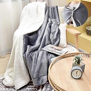 JS HOME Thicken Fleece Blanket Throw, Lightweight Super Soft Cozy Luxury Bed Blanket Microfiber, Bed Blanket, Grey, 60