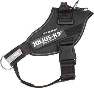 Julius-K9 IDC Powerharness, Dog Harness with Front Control Y-Belt, Size: 0, Black