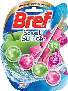 Bref Scent Switch Floral Apple/Water Lily, Toilet Cleaner, 50g