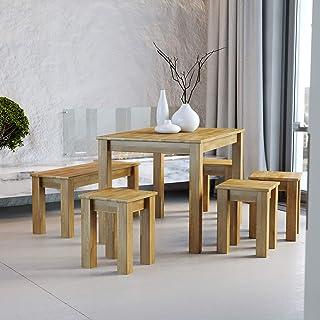 Krok Wood Table à Manger en chêne Bonn en Bois Massif 110x75x75 cm
