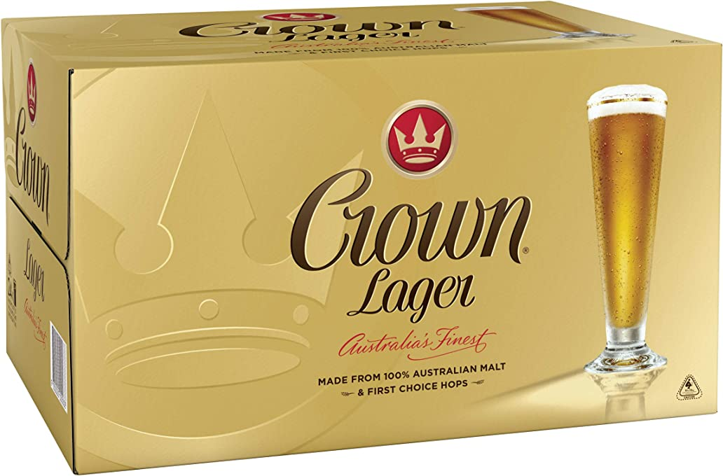 Crown Lager Beer Case 24 x 375mL Bottles
