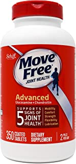 Glucosamine and Chondroitin Advanced Joint Health Supplement Tablets, Move Free (350 Count in a Bottle), Supports Mobility, Flexibility, Strength, Lubrication & Comfort