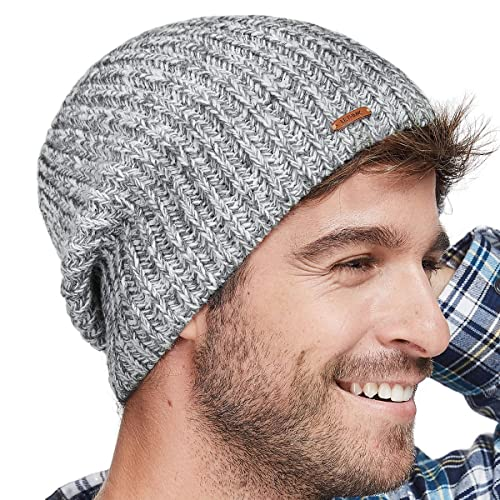 LETHMIK Winter Beanie Skull Cap Warm Knit Fleece Ski Slouchy Hat for Men    Women a57015305f52