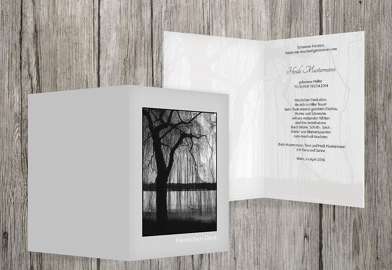 Trauerkarten-druck Danksagung Trauer   Danksagung Trauer Trauer Trauer Baum   30 Karten   mit Individualisierung & Umschlägen   in hellesGrau B01GRTKQM4 | Ermäßigung  c3a85b