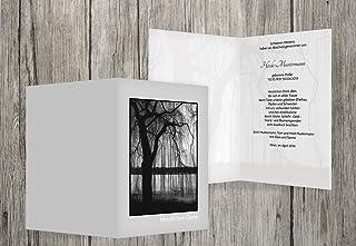 Trauerkarten-druck Danksagung Trauer   Danksagung Trauer Baum   40 Karten   mit Individualisierung & Umschlägen   in hellesGrau B01GRTKT58  Neuer Stil