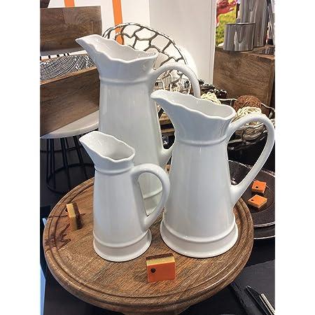 Small white pour pitcher