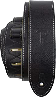 """Perri's Leathers Ltd Guitar Strap, 2"""" Wide Deluxe Italian Leather, Super Soft Suede Backing, Adjustable Length, (BM2-6552)..."""